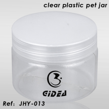 Plástico transparente pet jar