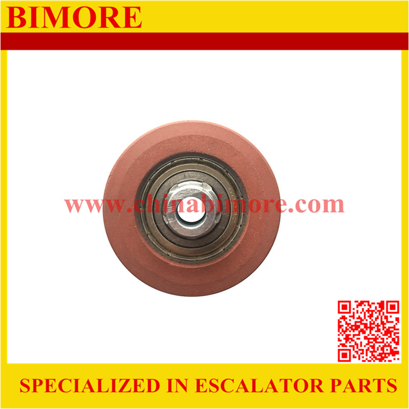 52x16x6003 KM89627G02 Elevator steel wire rope roller for Kone double groove