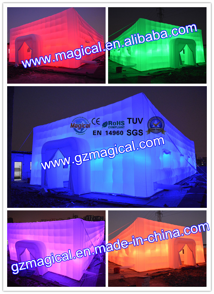 LED advertising event party cube marquee inflatable wedding tent