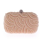 Wholesale glitter mosaic diamante jewelled pearl cotton rhinestone marble beaded crystal wedding evening clutch bag with stones
