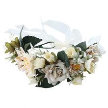 Женская повязка на голову Haimeikang, ободок с цветами, венок для свадьбы, аксессуары для волос, диадема для невесты(Китай)