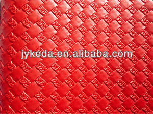PVC Leather vaccum weave for bag and sofa.