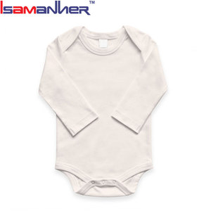 Wholesale blank baby clothes 100% cotton plain white baby rompers