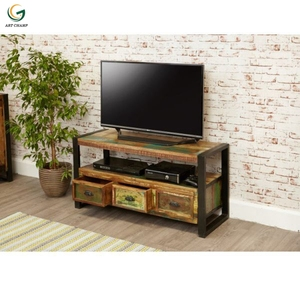 Industrial style collection metal feet new model tv stand