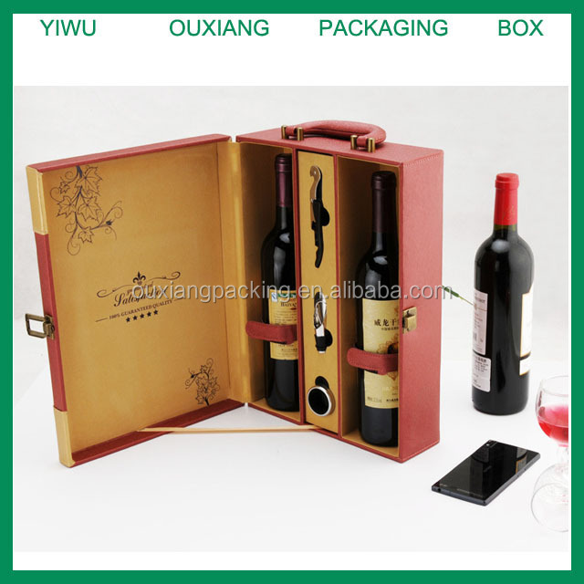 Luxury leather wine box and accessories/Leather Wine Carrier