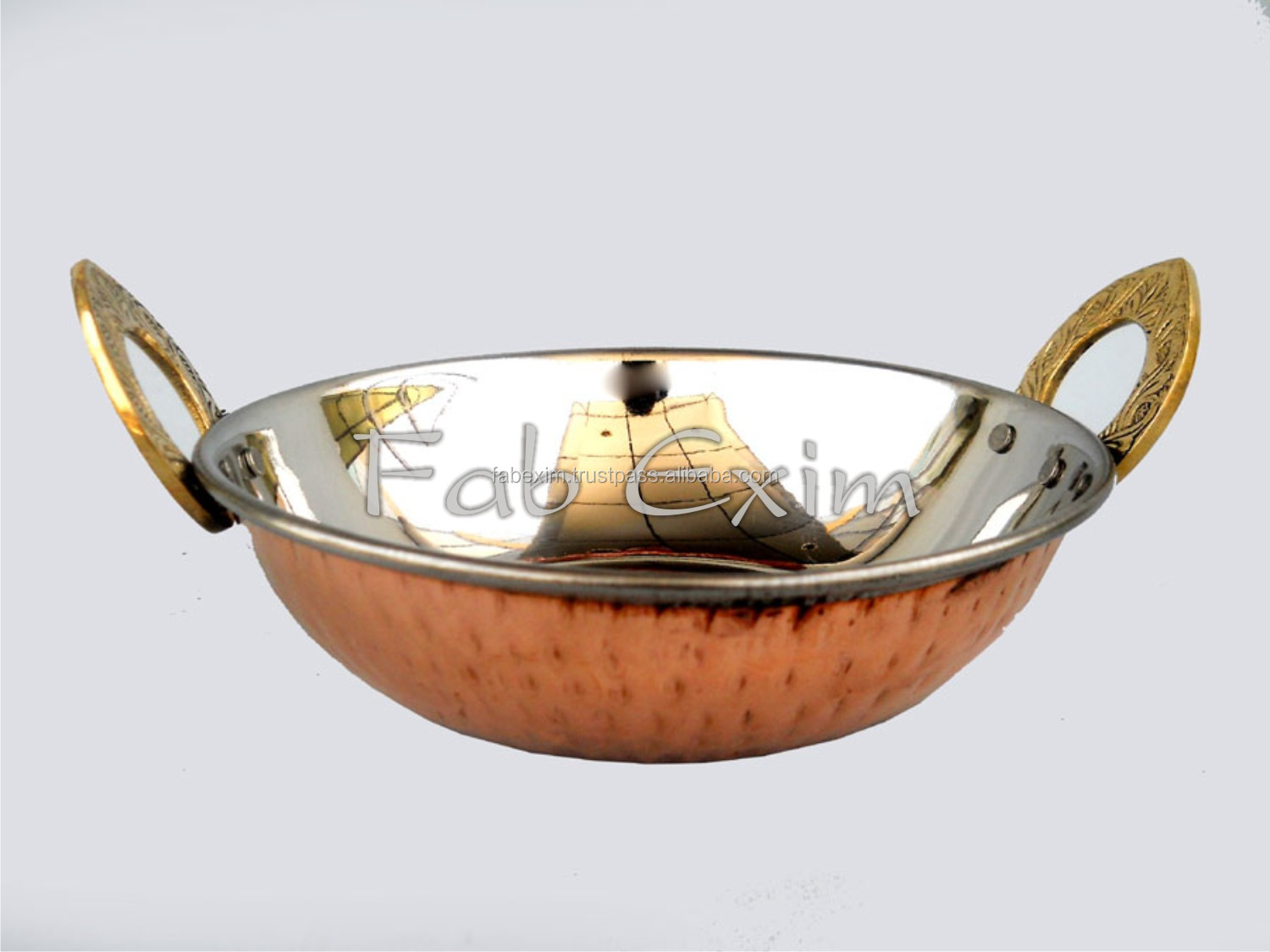 Decorative Kitchen Oval Dish , Copper Brass Curry Dish , Tableware