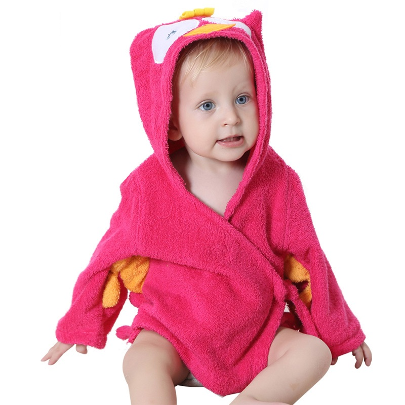 Cartoon Baby Bathrobe Infant Hooded Animal Style Baby Bath Towel Character Kids Bath Robe Beach Towels