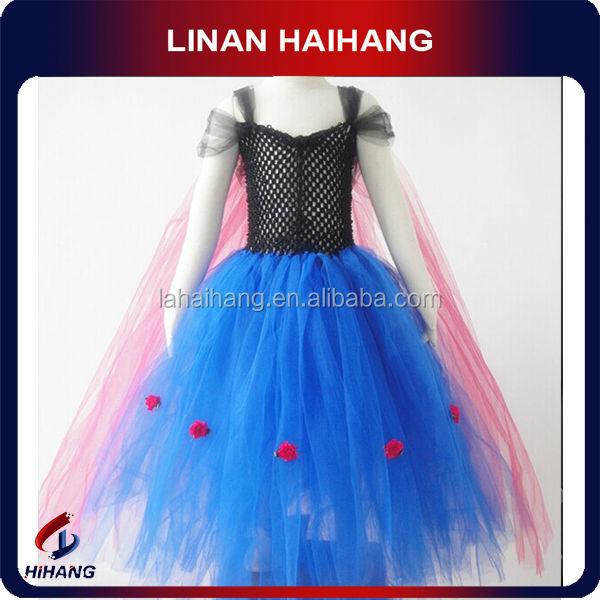 China Manufacturer Latest Fashion Frozen Theme Chiffon Kids Party ...