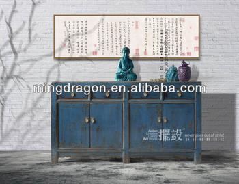 Badkamer Meubel Antiek : Chinese antieke klassieke goedkope massief hout blauw