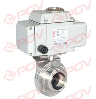 hotsale ss304 clamp high quality sanitary electric butterfly valve manufacturer