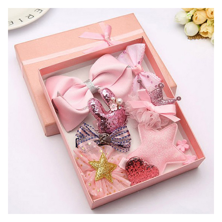 New Design Bows Barrette Pastel Baby Hair Accessories Hair Clips Set For Girls