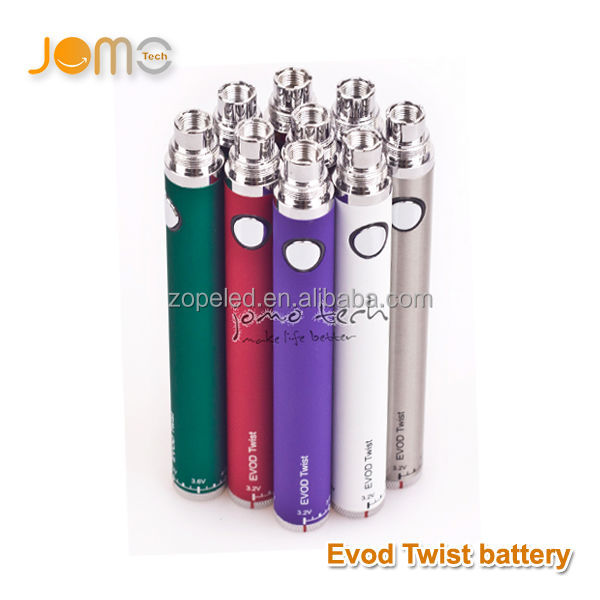 High quality evod wholesale evod vv and evod twist battery with Variable voltage 3.2~ 4.8V rechargeable
