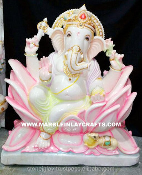 Beautiful White Marble Ganesha Statue Buy Indian Idol Ganesh