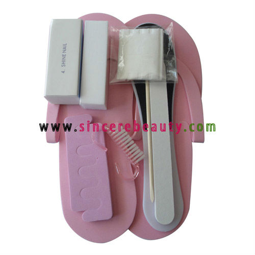 Disposable manicure pedicure set