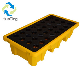 Plastic secondary containment plastic drum spill pallet