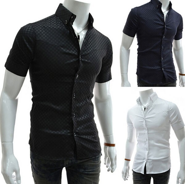2016 Free Shipping High Quality 100% Cotton Business Men's <strong>Shirts</strong> Wholesale Fashion Slim Fit Short Sleeve Summer Men Dress <strong>Shirt</strong>