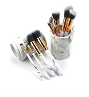 Ouyou SFT-8064 11pcs foundation powder makeup brushes set fan shape flat kabuki eye shadow brow cosmetic brush makeup