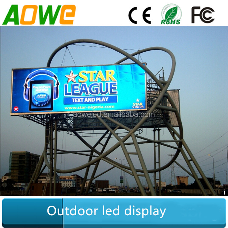 Large digital billboard P10 outdoor waterproof high brightness led display screen