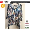 Good quality leisure style Printing long sleeve lady blouse woman blouse
