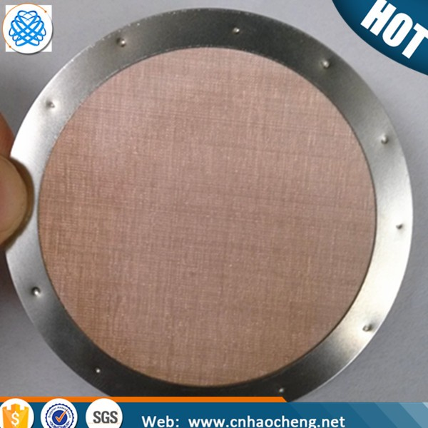 Grain and oil filtration dutch weave copper wire mesh spot welded filter disc