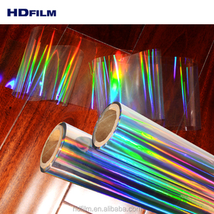 High Quality Transparent Holographic Embossed Film Roll for Laminating with Paper