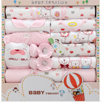 KB092 Spring Cotton New Born Baby Clothing Sets Gift Box