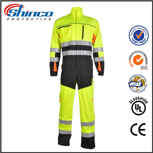 100% cotton fire resistant anti-oil coverall for oil uniform