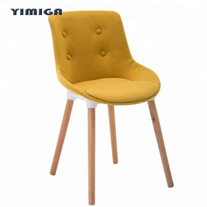 new style modern upholstered dinning chair in home room with wood leg