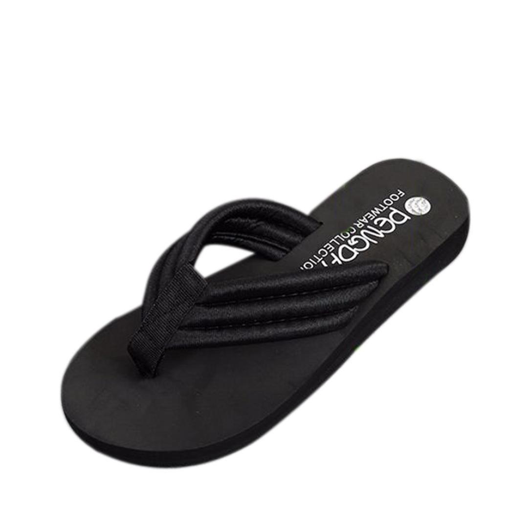 46079d68c8af88 Get Quotations · Womens Sandals Flat Bohemia Flower Strap Flip Flop  Bohemian Platform Heeled Sandals Slide Thong Slipper Clip