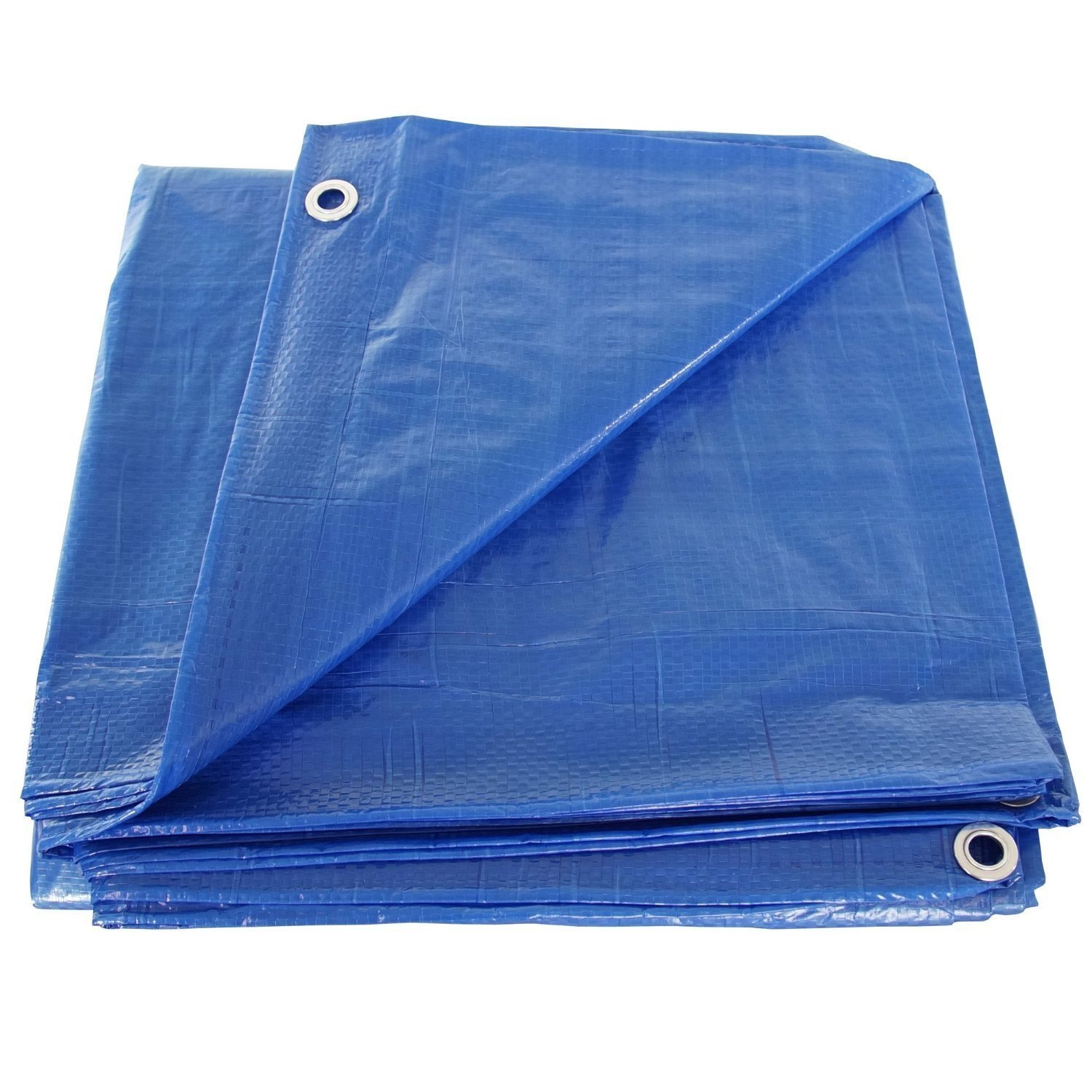 12' x 22' Blue Poly Tarp Cover, Water Proof Tent Shelter Camping RV Boat Tarpaulin