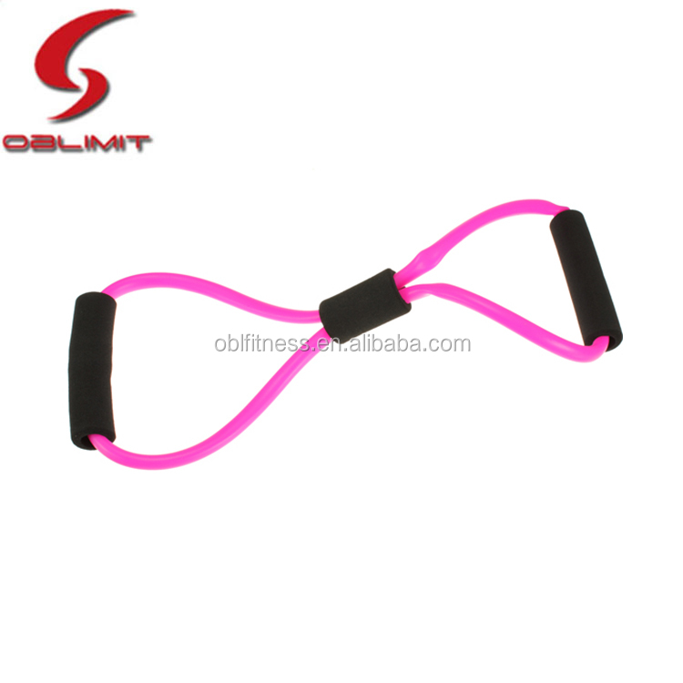 High Quality Fitness 8 Shape Resistance Latex Strap Tube Chest Expander