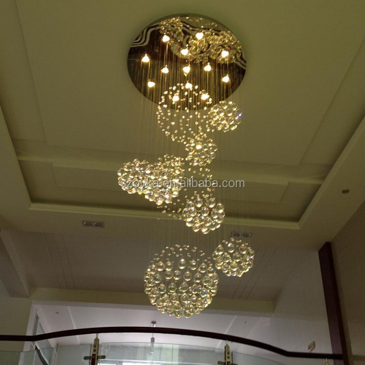 Custom creative crystal living room chandeliers hotel engineering lamps villas bar round table ball stroller chandeliers