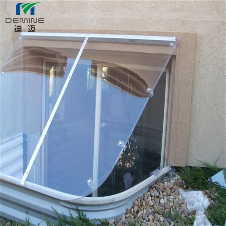 Polycarbonate sheet for window well covers