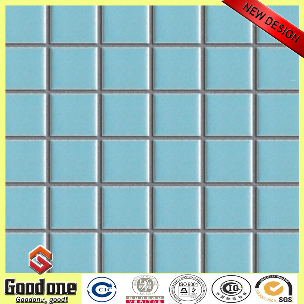 Good Quality Swimming Pool Iridescent Glass Mosaic Blue Tile G311B