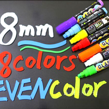 Office Supplies 10mm Highlighter Neon Liquid Chalk Marker Pens for LED Writing Board Neon Effect Writing Pens 1 pcs/Lot 8 Color