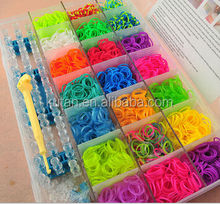 promotional kids funny crazy cheap rainbow style loom rubber bands set