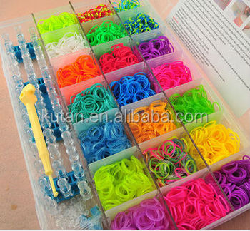 Promotional Kids Funny Crazy Rainbow Style Loom Rubber Bands Set