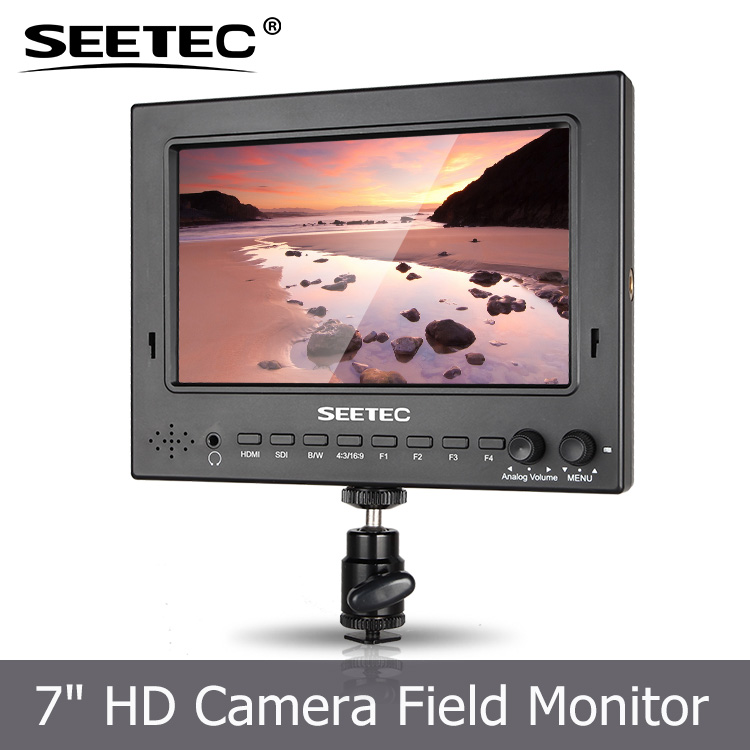 Professional 7inch HDMI 1024*600 Pixels SDI Broadcast LCD HD On-camera Monitor Peaking Filter for DSLR ST-702HSD