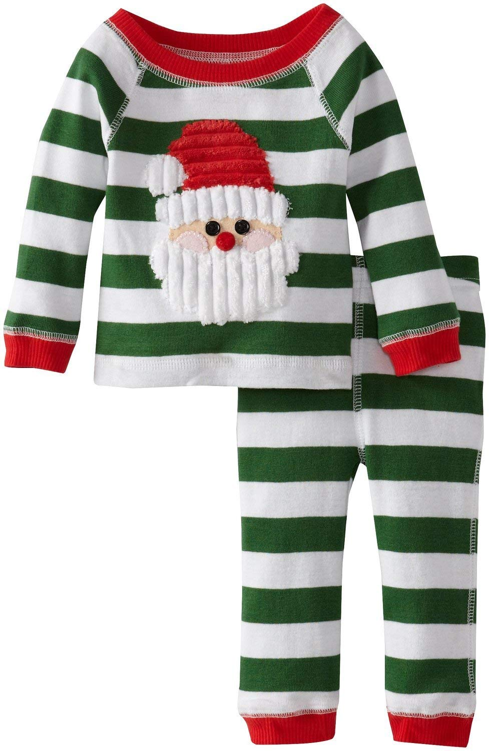 52d3f13ab2 Get Quotations · Green Stripes Santa Lounge Set Mud Pie Infant or Toddler Christmas  Pajamas 2T