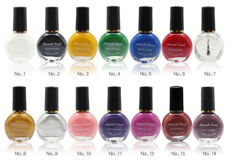 26 Colors Special Stamping Nail Polish/nail Art Paint Oil - Buy Nail ...
