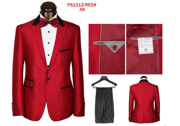 wedding suit men red 2015 new arrival terno 2 piece men brand suits set dropship cheap suit slim fit suits blazers free shipping