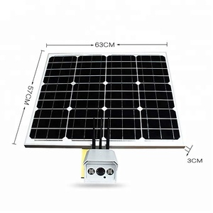 Wireless Outdoor 3G 4G Sim card Solar Powered CCTV Security Camera