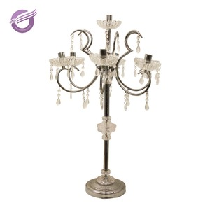 ZT01070 silver acrylic Lifestyles Dining Table Decorations decorative glass candle holder