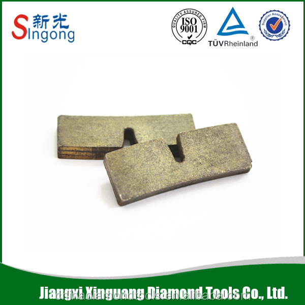Diamond concrete grinding segments for granite cutting tools
