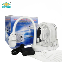 Multifunctional 2.5X/5X/16X Table Lamp Magnifier Desktop Lamp Magnifying Glass LED with 3 Interchangeable Lenses