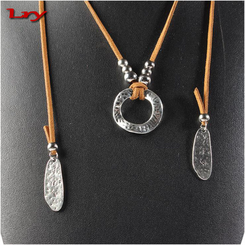 Hot Sale 2017 Amazon American Street Punk Simple Leather Necklace in Copper Alloy Jewerly For Man