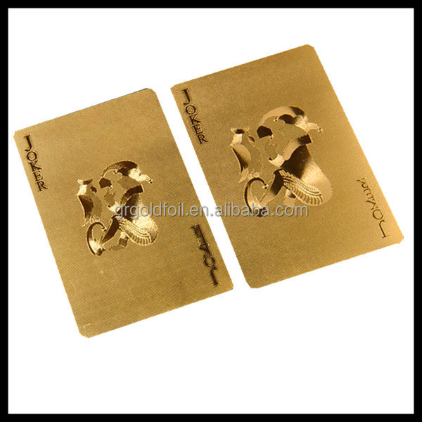 Gold plated playing cards custom playing card /game card printing