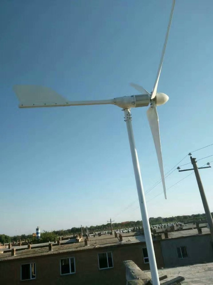 Home residential wind electric power generator 3kw wind generator for hybrid solar wind system