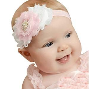 Smile Lovely Baby Girls Headbands Rhinestone Flower Headbands For Girls Infant Hair Band for kids HB314