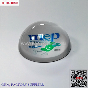 Direct Factory Price Customized 3D Laser Engraving Crystal Paperweight Hemisphere